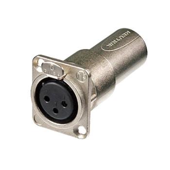 NEUTRIK XLR NA3FDM Feed-through panel adapter-female to male
